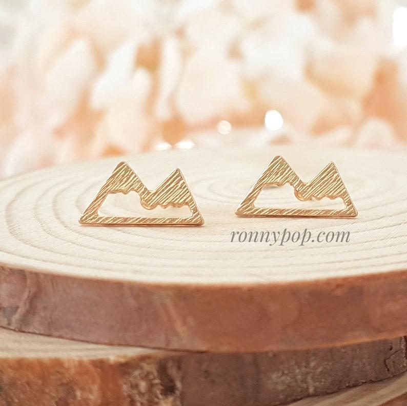 Ski Earrings Gift Idea Mountain Stud Earrings Gift Jewelry Dainty Earrings Christmas Gift Friend Gift Sister Gift Silver