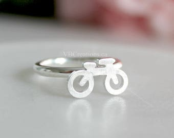 Bike Ring - Bicycle Ring - Bike Jewelry - Cyclist - Dainty Ring - Silver - Gold - Pink Gold - Best Friend Gift - Gift for her - Sister Gift
