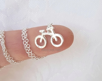 Bicycle Necklace - Bike Necklace - Silver Chain - Dainty Chain - Bicycle Pendant - Gift Jewelry - Triathon - Athlete - Sports Jewelry - Gift