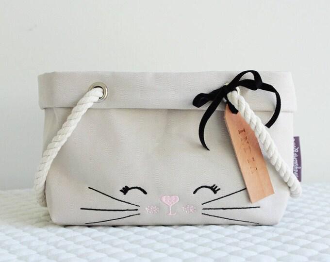 Featured listing image: Easter Bunny Basket Bag Pink