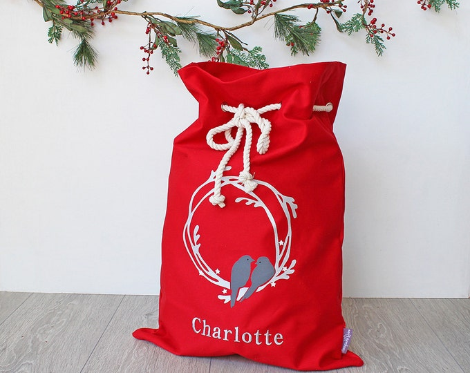 Featured listing image: Santa Sack Red Wreath