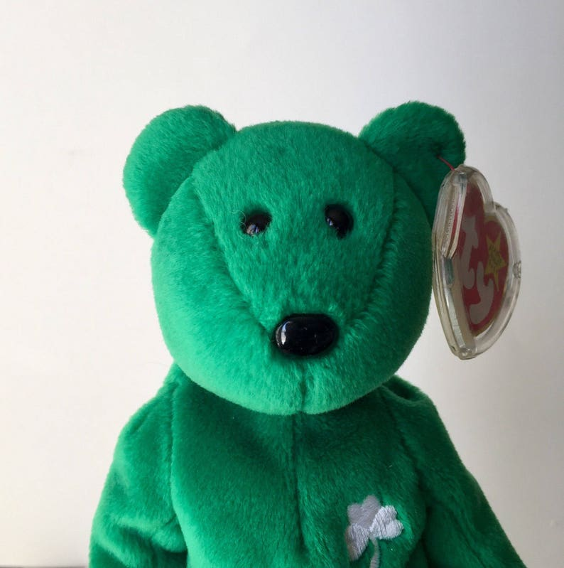 1997 Ty Erin the Bear Retired Beanie Baby Collectible with Swing tag error  and t... 1997 Ty Erin the Bear Retired Beanie Baby Collectible with Swing  tag ... f0fe17f2298f