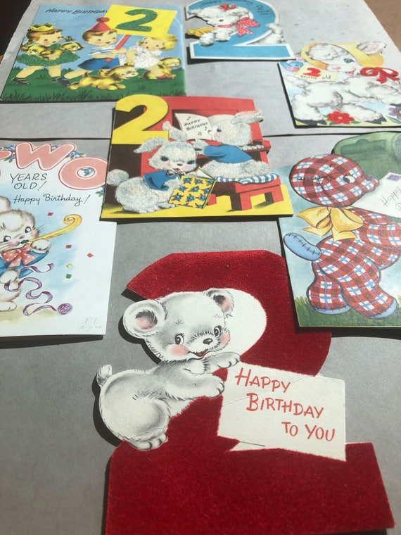 2 Year Old Birthday Cards For Children 3 Available