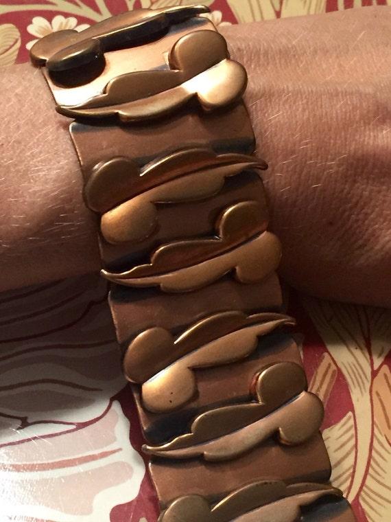 Renoir Copper Bracelet 1940s