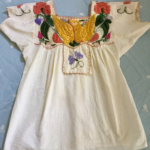 Mexican Blouse Embroidered As Is Viva Mexico! 1930