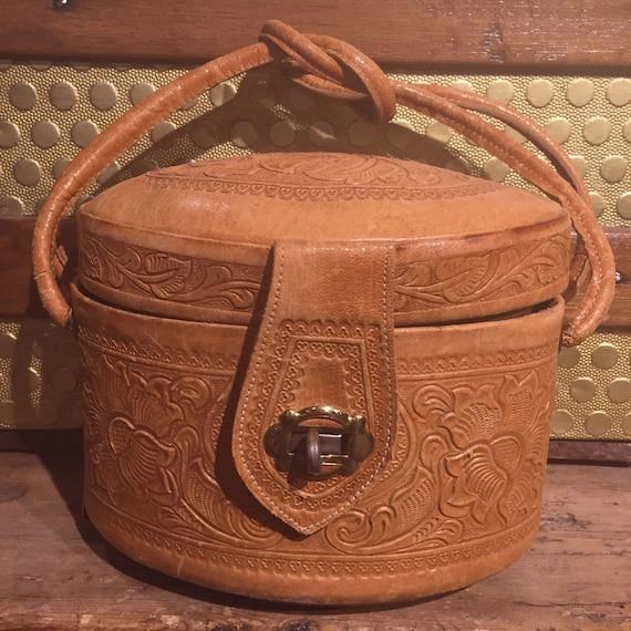 Tooled Handbag Vintage As Is