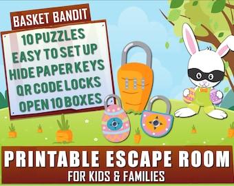 Easter Escape Room for Kids | Basket Bandit | Printable Escape Room, QR Code Locks, Easy set up