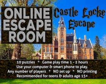 Online Escape Room for Teens and Adults - Castle Locke Escape