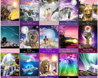 """A 62 Card Deck """"Heaven and Earth Oracle Messages"""" OUT OF STOCK (Free oracle card reading from my deck below)"""