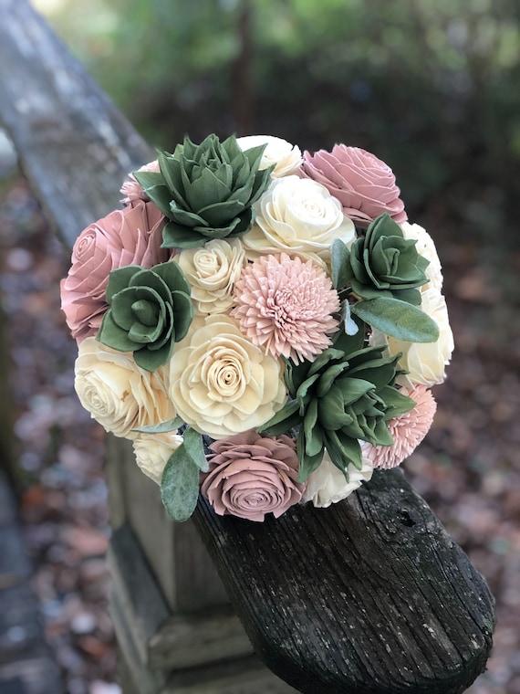 Sola wood flower boutineer custom made to order.
