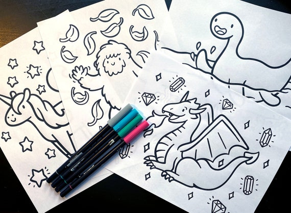 - Imaginary Friends Coloring Pages Kawaii Printable Coloring Etsy