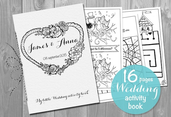 Exhilarating image in printable wedding activity book