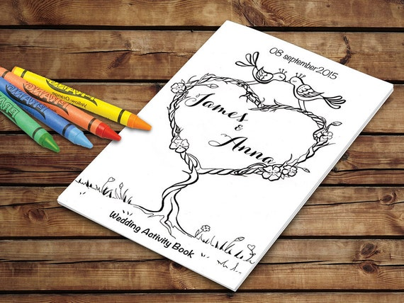 Wedding Activity Book Printable Kids Wedding Coloring Pages Etsy