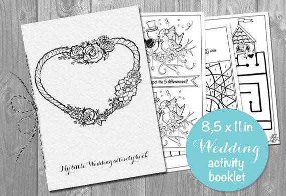 Actividad de boda para colorear libro folleto para 8.5x11 | Etsy
