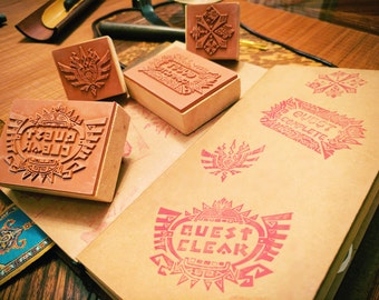 Monster Hunter Rubber Stamps (4 Designs from MH4U and MHGen!)