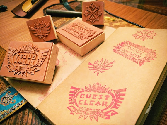 Monster Hunter Rubber Stamps 4 Designs From MH4U And MHGen