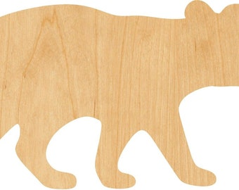 Crafting Supplies Bear Cutout Bears Laser Cut Wood Craft Bear Cub A155