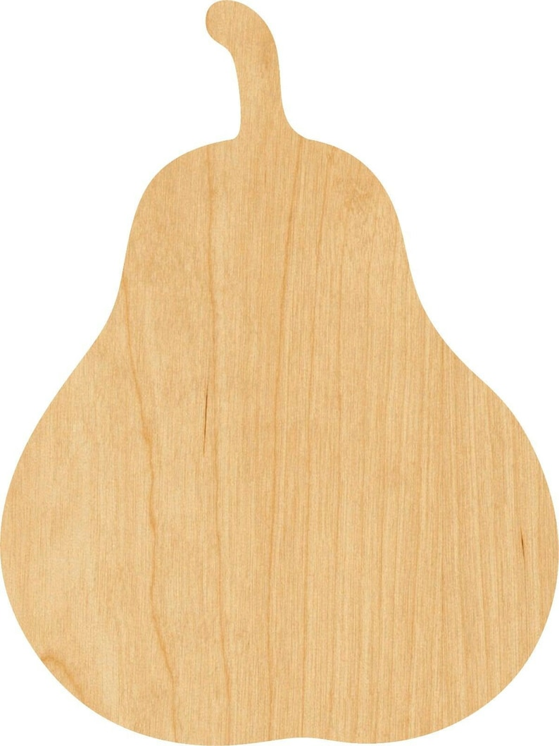 Great for Crafting Projects Hobbyist D.I.Y Pear Wooden Laser Cut Out Shape