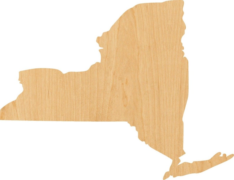 New York  Wooden Laser Cut Out Shape Hobbyist D.I.Y Great for Crafting Projects