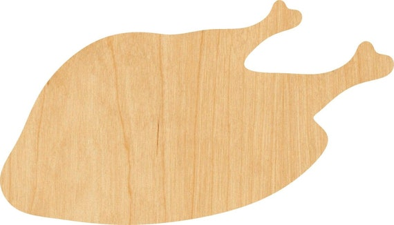 Turkey Wooden Laser Cut Out Shape D.I.Y Hobbyist Great for Crafting Projects