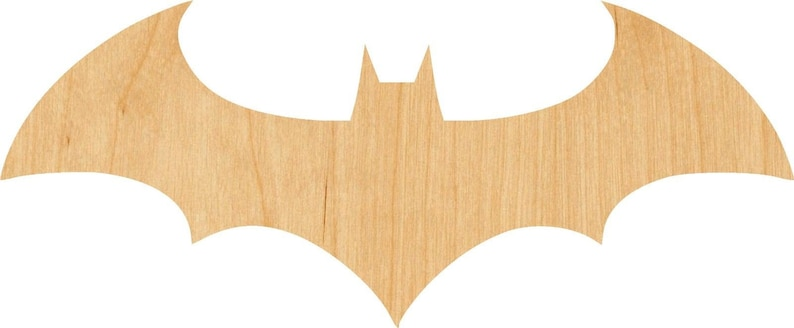 Batman Symbol Wooden Laser Cut Out Shape Projects Hobbyist D.I.Y Great for Crafting
