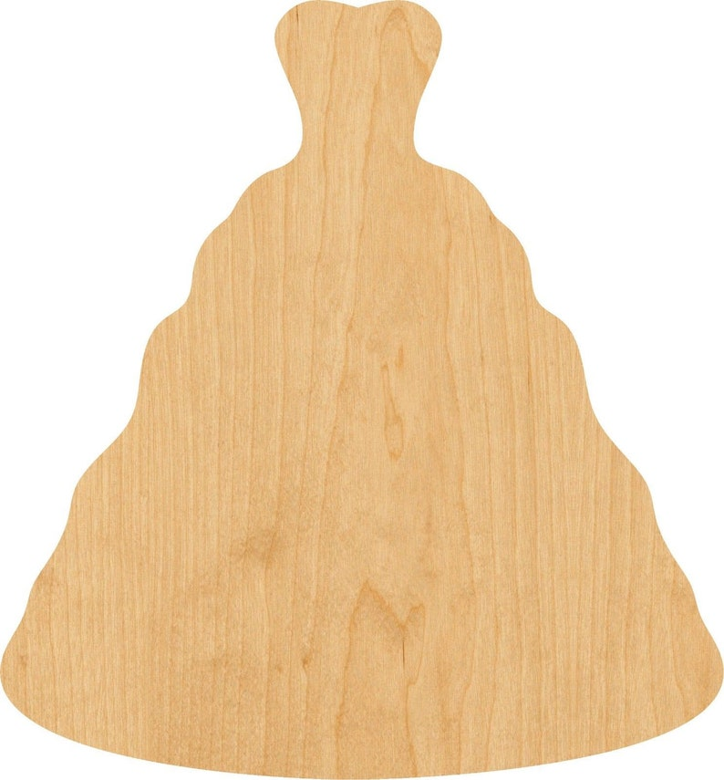 Projects Wedding Dress Wooden Laser Cut Out Shape D.I.Y Hobbyist Great for Crafting