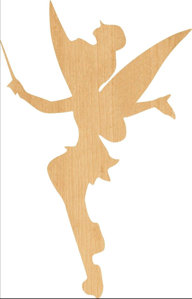 Great for Crafting Tinkerbell Wooden Laser Cut Out Shape Projects D.I.Y Hobbyist