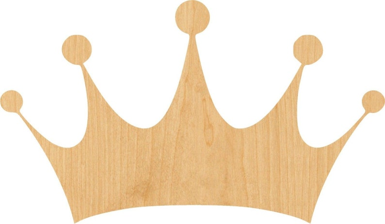 Great for Crafting D.I.Y Crown Wooden Laser Cut Out Shape Projects Hobbyist