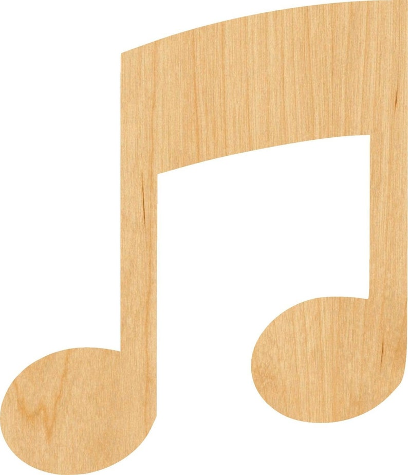 Great for Crafting Hobbyist Music Note 5 Pick Wooden Laser Cut Out Shape D.I.Y Projects