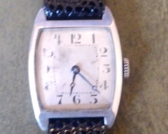 Vintage silver watch from 1920s