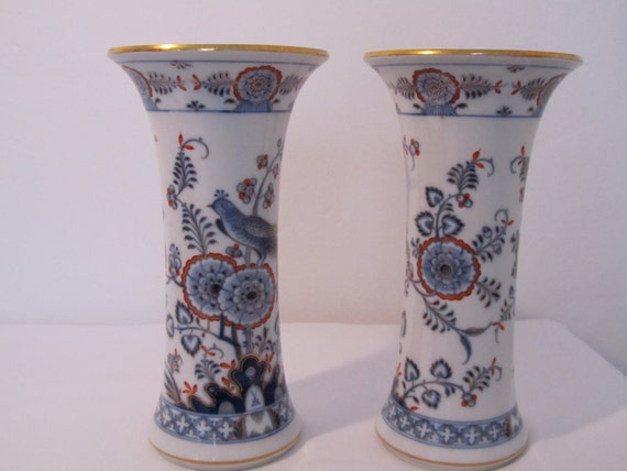 Pair Of Meissen Ceramic Vases Historical Meissen Etsy