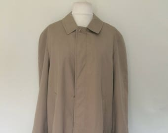 Vintage Bugatti mens rain coat macintosh size large 40