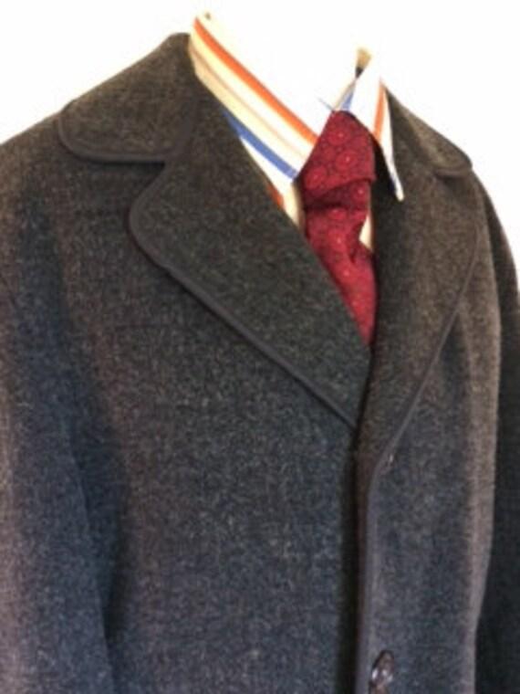 Vintage 60s mens Overcoat winter Coat business coa