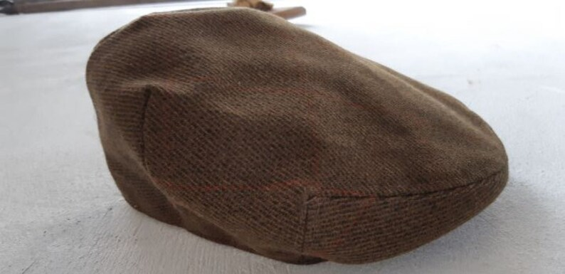 Vintage Tweed wool mens Cap Tam Flat cap By Norton Townsend Bespoke Tailoring London size 7 18