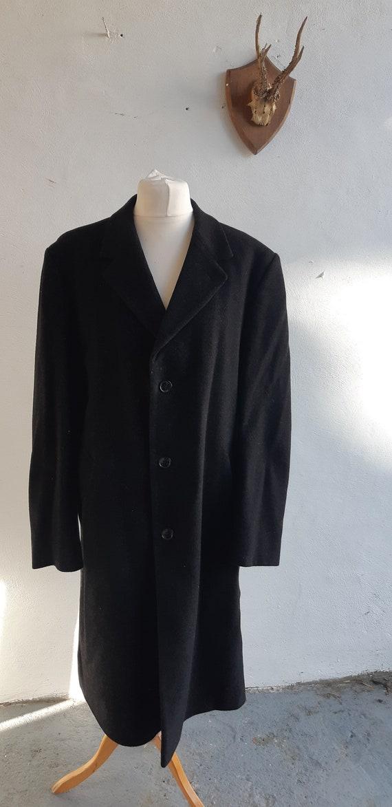 Vintage mens Wellington Executive Coat black cashm