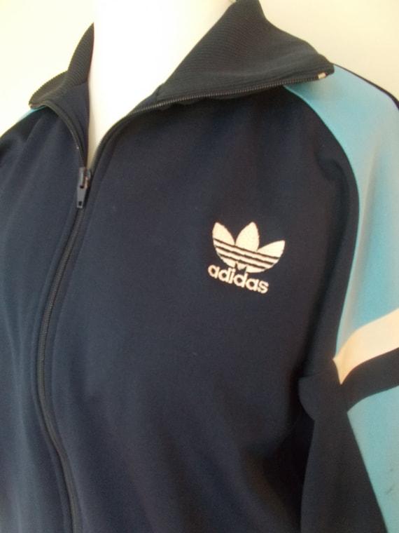 Vintage Adidas veste des années 90 sport style veste taille moyenne grande