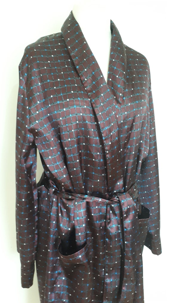 f1799564146 Vintage mens robe dressing gown 80s First Avenue Classics