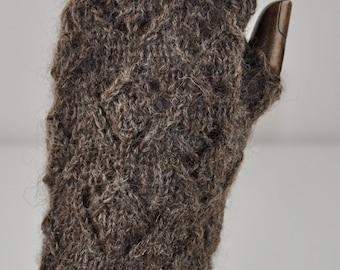Fingerless mitts - knitting kit