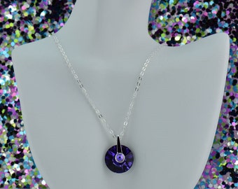 Purple Pendant Necklace N2513 - Free Shipping