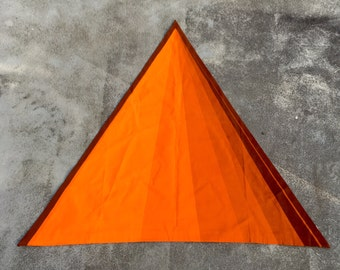 Verner Panton 'Cone' orange/golden/brown Spectrum cotton fabric for Mira-X