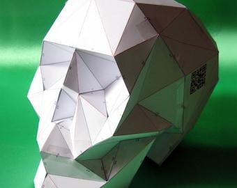 Cardboard Skull Etsy