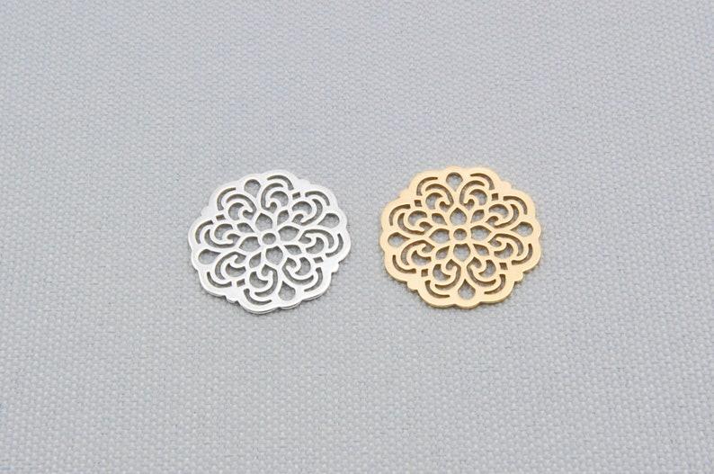 Laser Cutting Silver or Gold Mandala