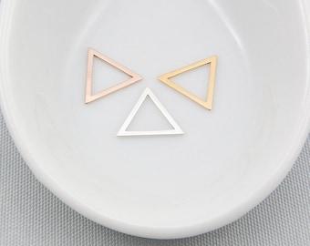 925 Sterling Silver Triangle Charm Geometric Jewelry
