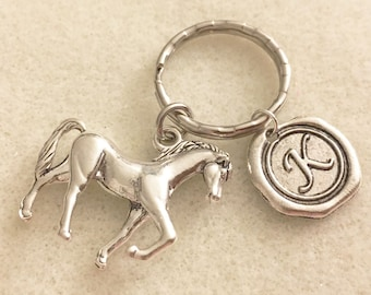 Personalized horse keychain horse lovers gifts horse jewelry horse gifts for girls horse gifts for kids horse key chain horse loss gifts
