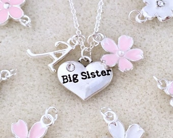 Personalized Big Sister Necklace Gift From New Baby Announcement Future Birthday Ideas Shower