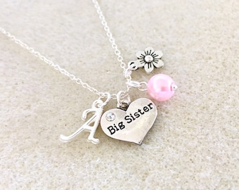 Personalized Big Sister Gift From New Baby Announcement Future Necklace Birthday Ideas Shower