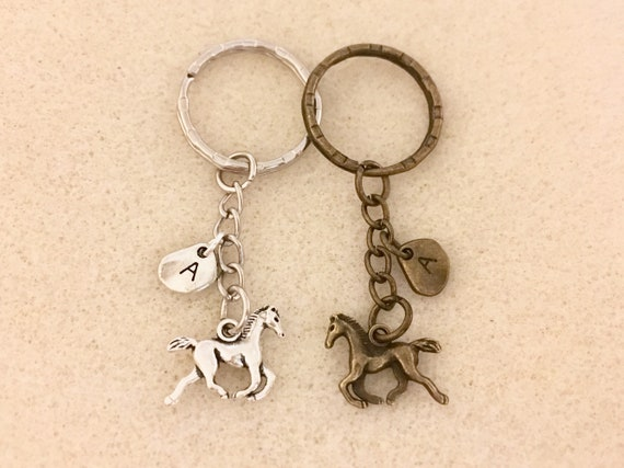 Bronze horse keychain horse jewelry horse lover gifts horse party favors couple keychain horse accessories gifts for her gifts for him