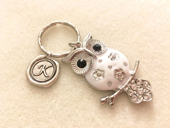 Owl keychain personalized owl gifts for women owl jewelry owl  384c1e460