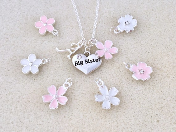 Personalized Big Sister Necklace Gift From New Baby