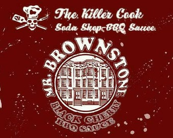 The Killer Cooks Soda Shop Soda BBQ Sauce: Mr. Brownstone Black Cherry BBQ Sauce